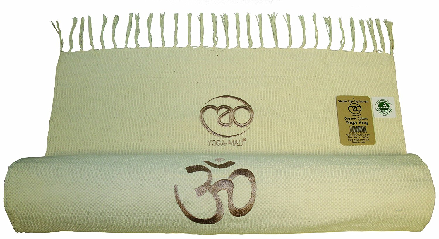 Yoga-Mad Organic Cotton Yoga Rug Natural